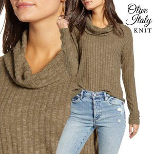 NWT BP Cozy Ribbed Knit Cowl Neck Cropped Sweater